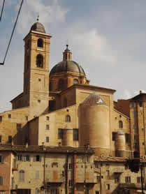 Urbino, veduta del duomo