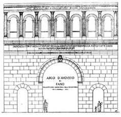 Arco di'Augusto. Progetto originario