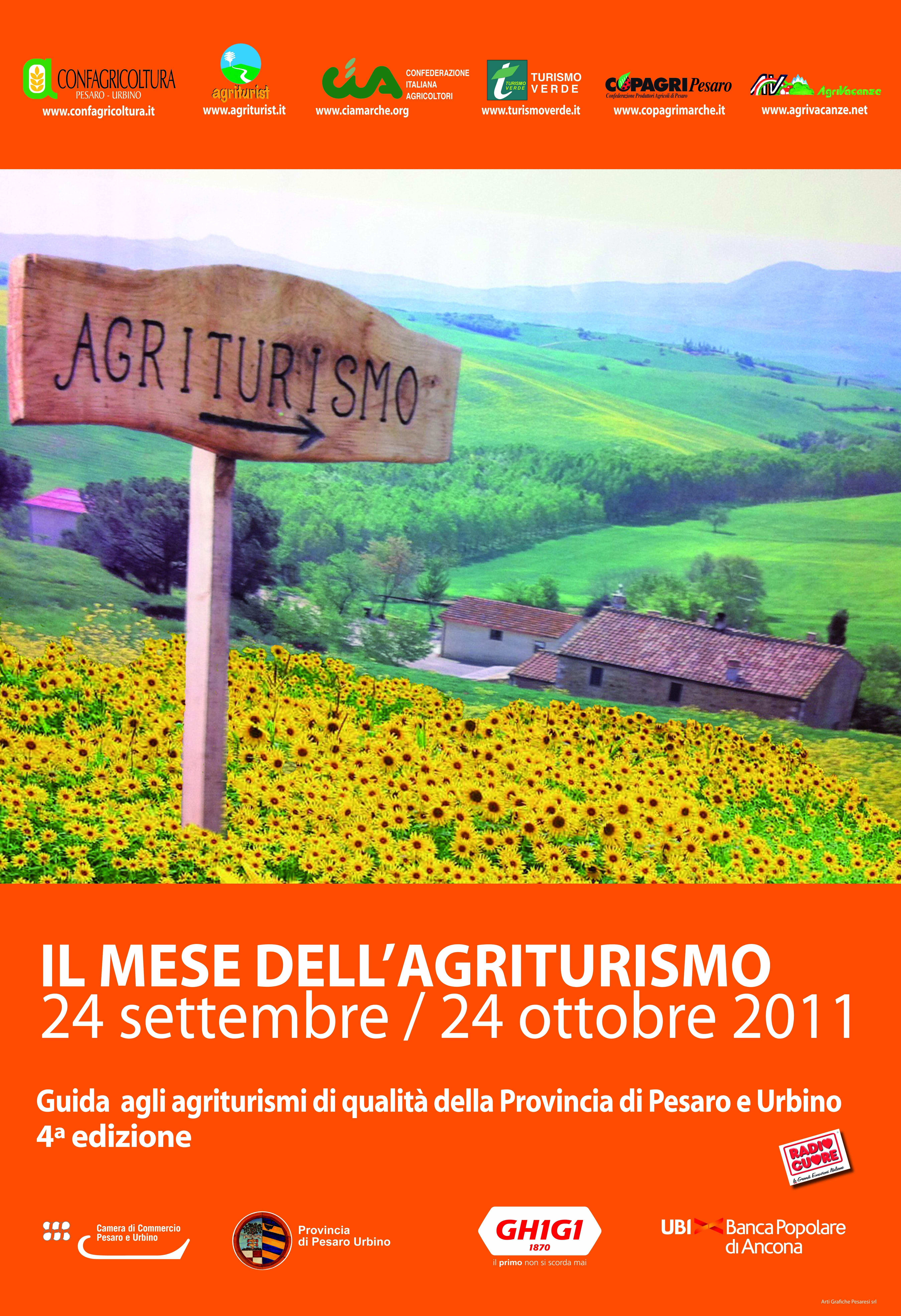 Mese dell'Agriturismo dal 24 settembre al 24 ottobre