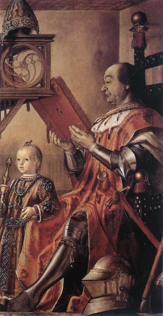 Federico da Montefeltro e figlio (Pedro Berruguete)